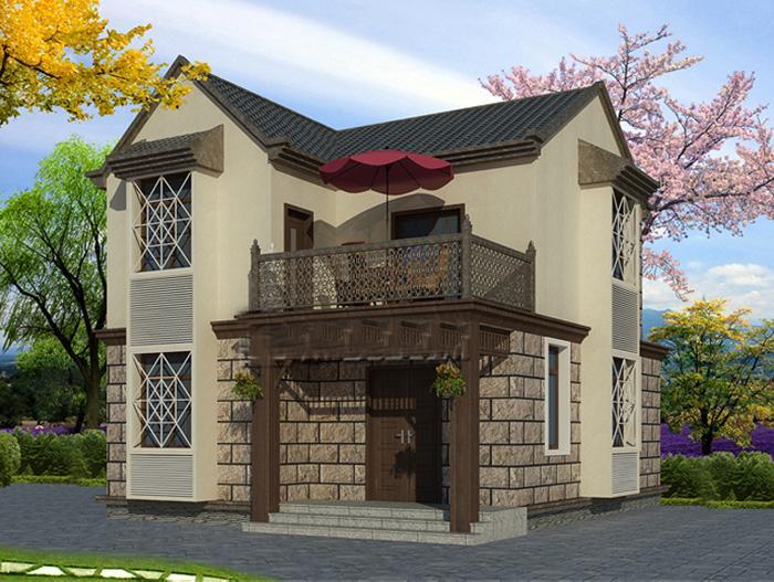 信息一层四合院农村图及二层外观包装效果图设计设计所需别墅图片