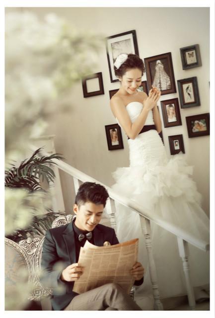 婚纱照一米放大