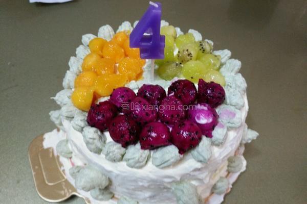 六寸水果奶油蛋糕