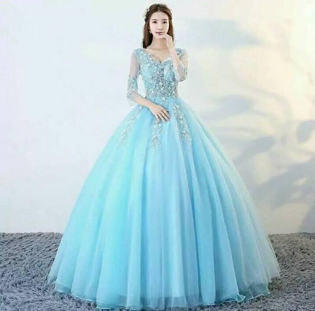 公主婚纱裙图片