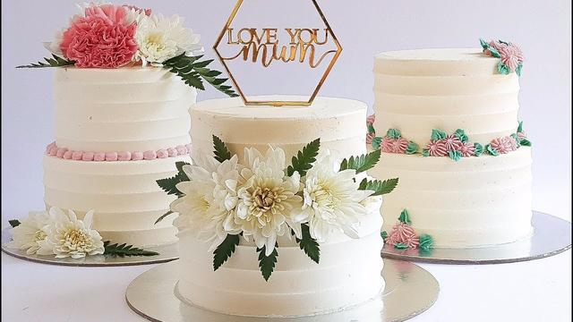迷你型高颜值双层蛋糕制作过程,母亲节送给最重要的人!