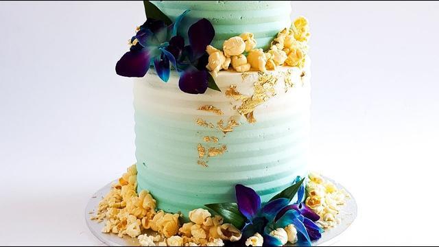 简易款双层蛋糕制作过程,搭配爆米花也是挺有趣的!