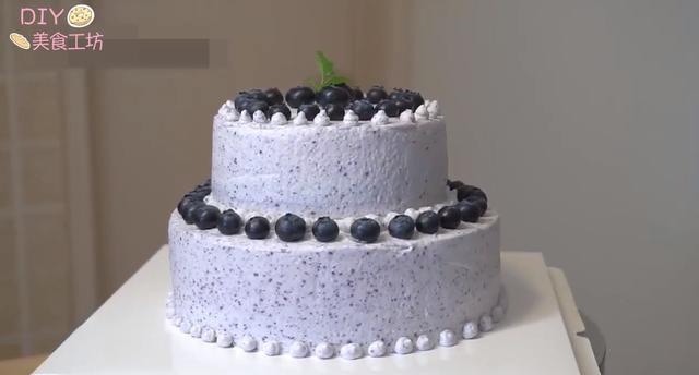 「烘焙教程」蓝莓双层蛋糕,好吃不腻口