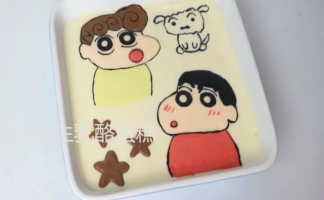 「烘焙教程」教你做小孩子都?#19981;?#30340;卡通蛋糕—蜡笔小新生乳酪蛋糕