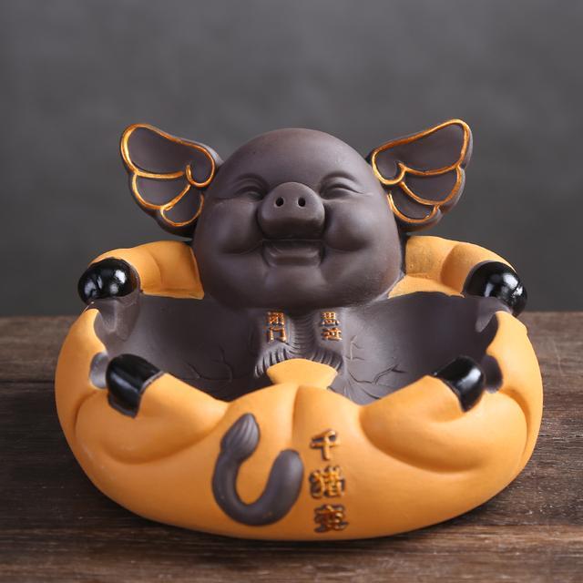 """""""猪年""""快到了,先瞧瞧这几款猪摆件,逗趣可爱,寓意美好贼招财"""