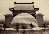 1929年的南京中山陵全景高清老照片,应该是摄于奉安大典前后