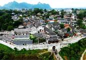 航拍贵州历史名镇 青岩古镇 吃美味猪蹄