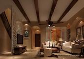 龙湖280平联排别墅装修、不是中式不是美式是托斯卡纳风格