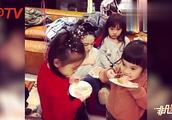欧弟晒女儿三岁生日照 JOJO双手合十对蛋糕许愿样子超可爱!