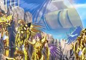 圣斗士星矢姐妹篇圣斗少女翔,高燃片头曲中的黄金圣斗士真帅气啊