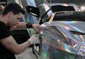汽车贴膜,兰博基尼砖石银炫动全场