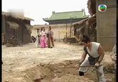 石敢当在霸占的田地建房子,发现一大石头,用神功打开竟得一金蟾