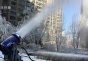 实力宠业主!没看到冬雪,山西一小区直接人工造雪,网友:羡慕了