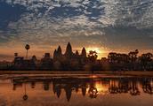 总是忘不掉,柬埔寨吴哥窟那一抹夕阳红