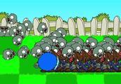 植物大战僵尸游戏动画:索尼克变成蓝色圆球滚僵尸