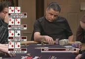 德州扑克:Dwan拿到同花开局,直接问下家:你后手有多少!