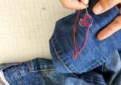 破洞牛仔裤怎么补图片