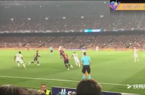 全场沸腾!巴萨球迷现场实拍欧冠梅西前场抢断过人远射破门瞬间