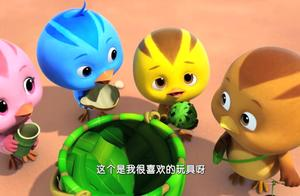 萌鸡小队:大家玩木头人游戏,倒计时结束,哥哥摔倒了!