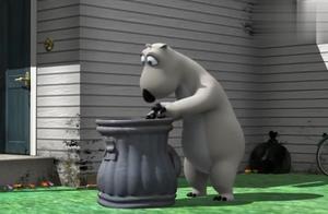 """""""处理""""版《倒霉熊》,笨熊恶搞小萌狗反被追着咬,太搞笑了!"""