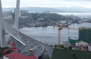 海参崴俯瞰金角湾和跨海大桥