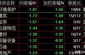 沪指震荡下行跌0.82% 大基建板块集体回调