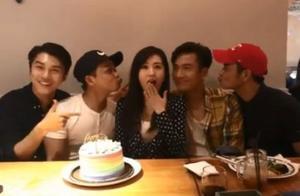 TVB唐诗咏继续生日饭局 一众好哥哥送飞吻庆祝
