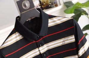 巴宝莉最新款翻领POLO衫,成熟男士衣橱必备品