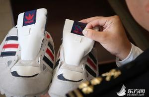 """假标签下藏高仿Adidas 难逃上海海关""""火眼金睛"""""""