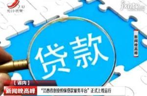 """""""江西省创业担保贷款服务平台""""正式上线运行"""