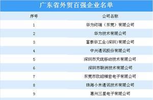 广东首次发布外贸百强企业:华为、中兴等企业上榜