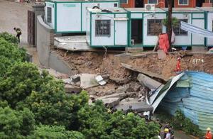 深圳暴雨土墙垮塌两人被困:一小孩抢救无效死亡