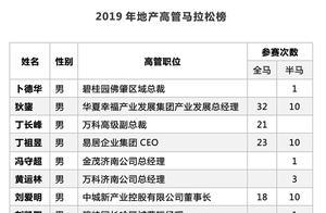 独家|2019年中国地产高管马拉松榜
