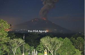 中领馆:巴厘岛火再喷发航空预警达最高级 游客警惕