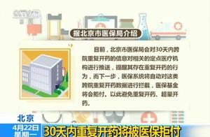 北京:30天内重复开药将被医保拒付
