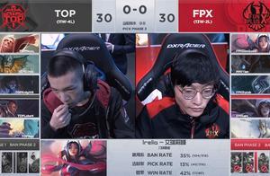 TOP状态下滑被小天军训三场,FPX最终3:1TOP拿到季军头衔