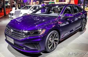 实拍   全新大众速腾R-Line,相当抢眼的紫色车身