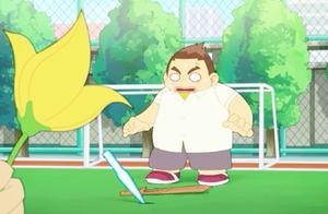 神奇阿呦:小米和阿呦完美配合,用花砍断剑,把毛毛吓得逃跑了