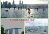 新加坡金沙酒店57层的室外无边泳池