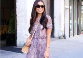 紫色的裙子配什么颜色的高跟鞋好看?