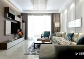 郑州新合鑫观悦89平两室装修,现代简约风格设计,真好看