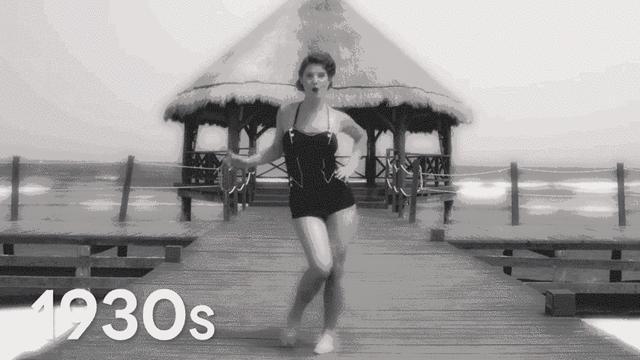 为什么在沙滩上,很少有人穿连体泳衣?