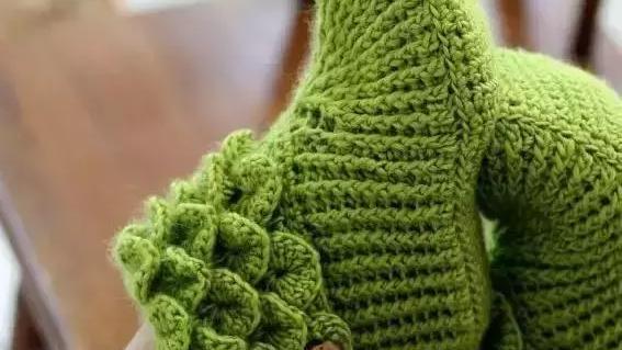 大人毛线纯色鞋编织新款