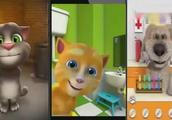 会说话的汤姆猫,搞怪小猫咪吹风机吹头发