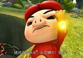 猪猪侠:猪猪侠变身五灵卫铁全虎也不是野狼的对手,真是废啊