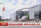 中国企业500强揭榜 4家徐州企业榜上有名