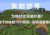 我的世界:村庄为啥没被抄袭?村庄的10个疑问,你知道答案吗?