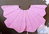 宝贝小开衫钩针编织教程,秋天穿上美美哒,都不愿脱下来了