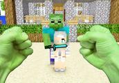 我的世界:绿巨人大战僵尸 拯救美女 真人版