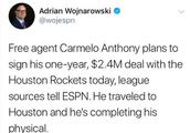 重磅!火箭将正式签约安东尼,合同为一年240万美元!
